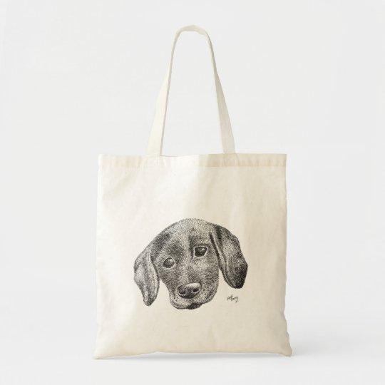 Puppy Art Tote Bag