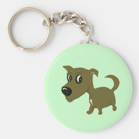 puppy basic round button key ring