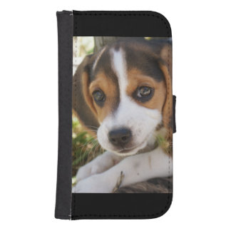 Puppy Beagles Samsung S4 Wallet Case
