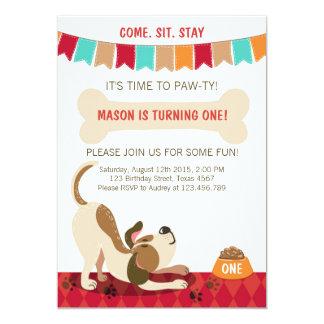 Dog Party Invitations Announcements Zazzlecouk
