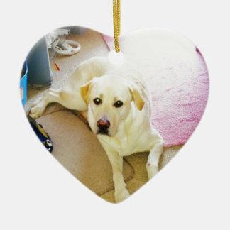 Puppy Ceramic Heart Decoration