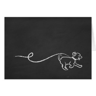 puppy chalk art card