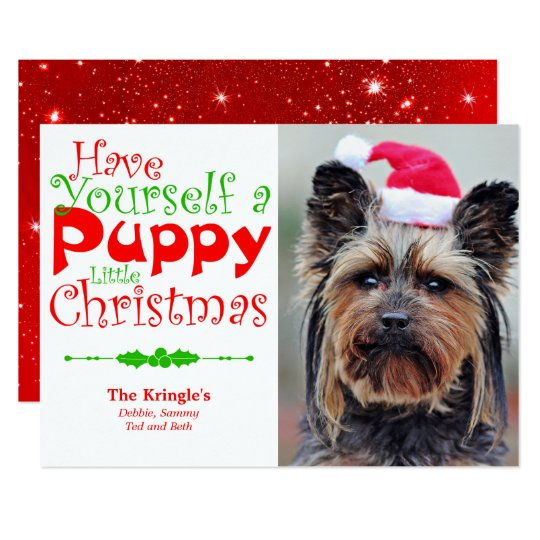 Puppy Christmas Holiday Pet Photo Card