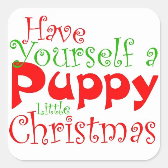 Puppy Christmas Holiday Pet Sticker
