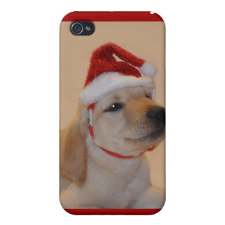 Puppy Christmas iPhone 4 Cases