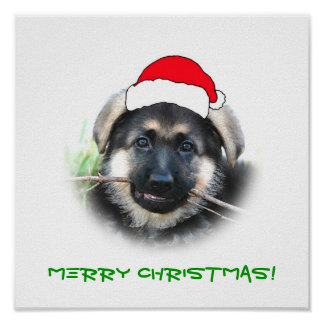 Puppy Christmas Poster