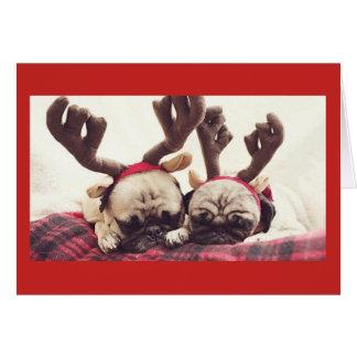 Puppy Christmas Themed Festive Card