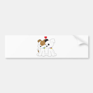 Puppy Couple Bumper Sticker