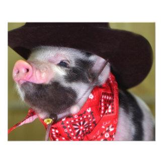 puppy Cowboy Baby Piglet Farm Animals Babies 11.5 Cm X 14 Cm Flyer