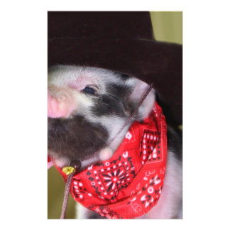 puppy Cowboy Baby Piglet Farm Animals Babies 14 Cm X 21.5 Cm Flyer