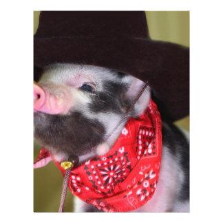 puppy Cowboy Baby Piglet Farm Animals Babies 21.5 Cm X 28 Cm Flyer