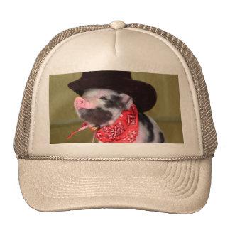 Puppy Cowboy Baby Piglet Farm Animals Babies Trucker Hat