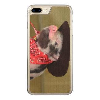 Puppy Cowboy Baby Piglet Farm Animals Babies Carved iPhone 8 Plus/7 Plus Case