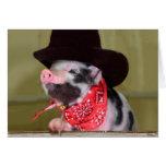 Puppy Cowboy Baby Piglet Farm Animals Babies Note Card