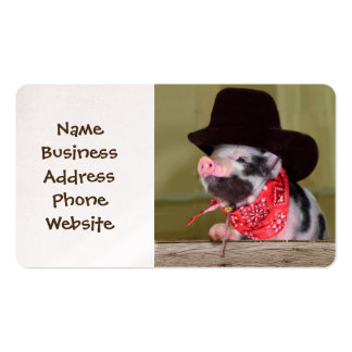 Puppy Cowboy Baby Piglet Farm Animals Babies Pack Of Standard Business Cards