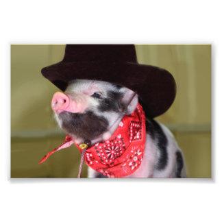 Puppy Cowboy Baby Piglet Farm Animals Babies Photo Art