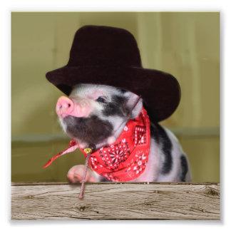 Puppy Cowboy Baby Piglet Farm Animals Babies Photo Print