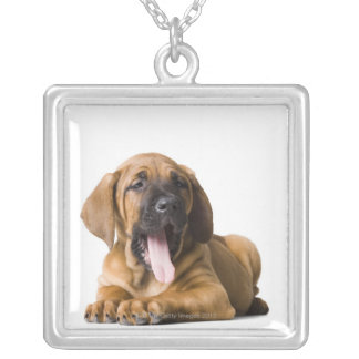 Puppy Dog 2 Silver Plated Necklace