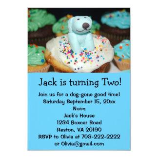 "Puppy Dog Birthday Party Invites 4.5"" X 6.25"" Invitation Card"
