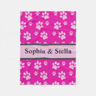 Puppy Dog Blanket Add Custom Doggie Name Pink