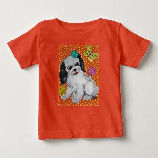 Puppy Dog & Butterfly Orange Design Kids' T Shirt