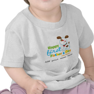 Puppy Dog Happy First Father s Day Tshirt