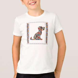 PUPPY Dog KIDS love CRYSTAL Stone Jewel NVN476 fun T-Shirt