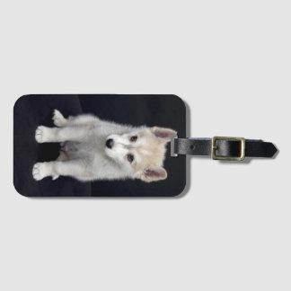Puppy dog luggage tag