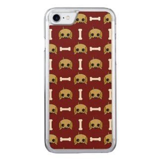 Puppy Dog With Bone Patterned Carved iPhone 8/7 Case