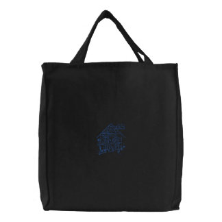 Puppy Embroidered Tote Bag