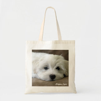 Puppy Eyes Budget Tote Bag
