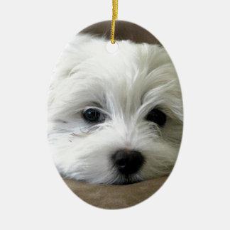 Puppy Eyes Christmas Ornament
