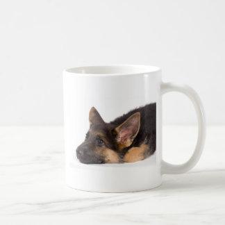 puppy german sheperd coffee mug