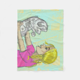 Puppy girl towel fleece blanket