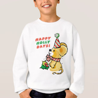 Puppy Happy Holly Days Holiday Sweatshirt