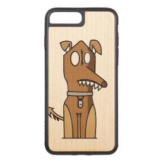 Puppy Illustration Carved iPhone 8 Plus/7 Plus Case