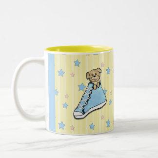 Puppy in a Blue Shoe Mug