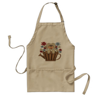 Puppy In A Watering Can Apron