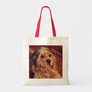 Puppy in Camo Cap Bag