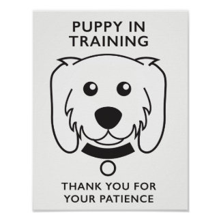 Puppy in Training Sign
