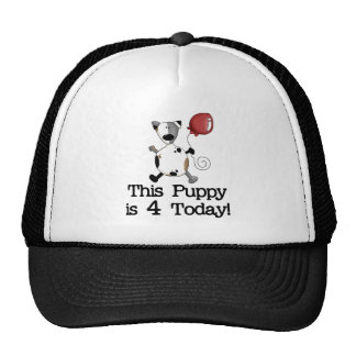 Puppy is 4 Birthday Tshirts and Gifts Cap