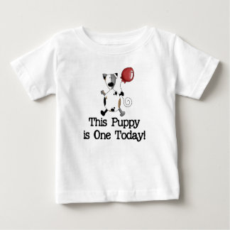 Puppy is One Birthday Baby T-Shirt
