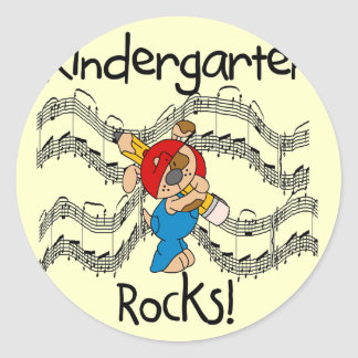 Puppy Kindergarten Rocks Tshirts and Gifts Classic Round Sticker