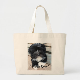"""""""Puppy Love"""" canvas bag by Zoltan Buday"""