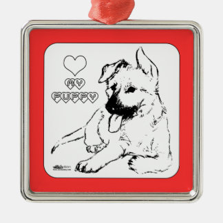 Puppy Love Christmas Ornament