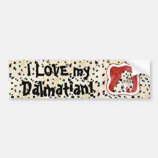 """Puppy Love,"" Dalmatian Puppy Art by Audrey Jeanne Bumper Stickers"
