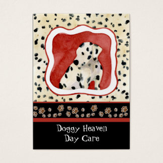 """""""Puppy Love,"""" Dalmatian Puppy Art by Audrey Jeanne Business Card"""