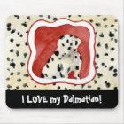 """Puppy Love,"" Dalmatian Puppy Art by Audrey Jeanne Mouse Mat"