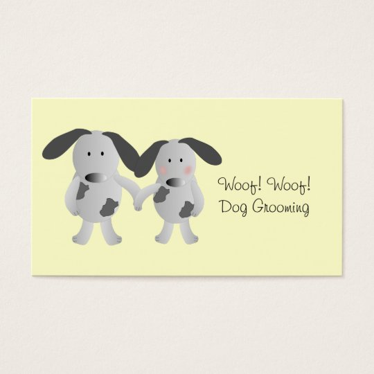 Puppy Love Dog Grooming Business Card