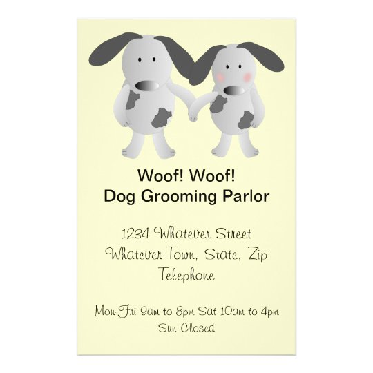 Puppy Love Dog Grooming Parlour Flyer